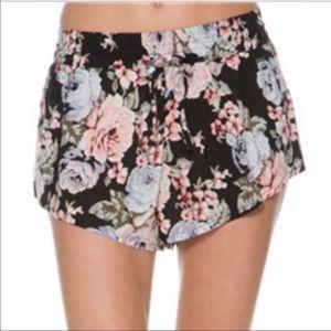 Volcom Black Noir Floral Shorts